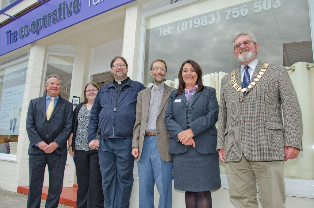 Local clergy blessed the Chapel of Rest at Freshwater Cooperative Funeralcare new branch