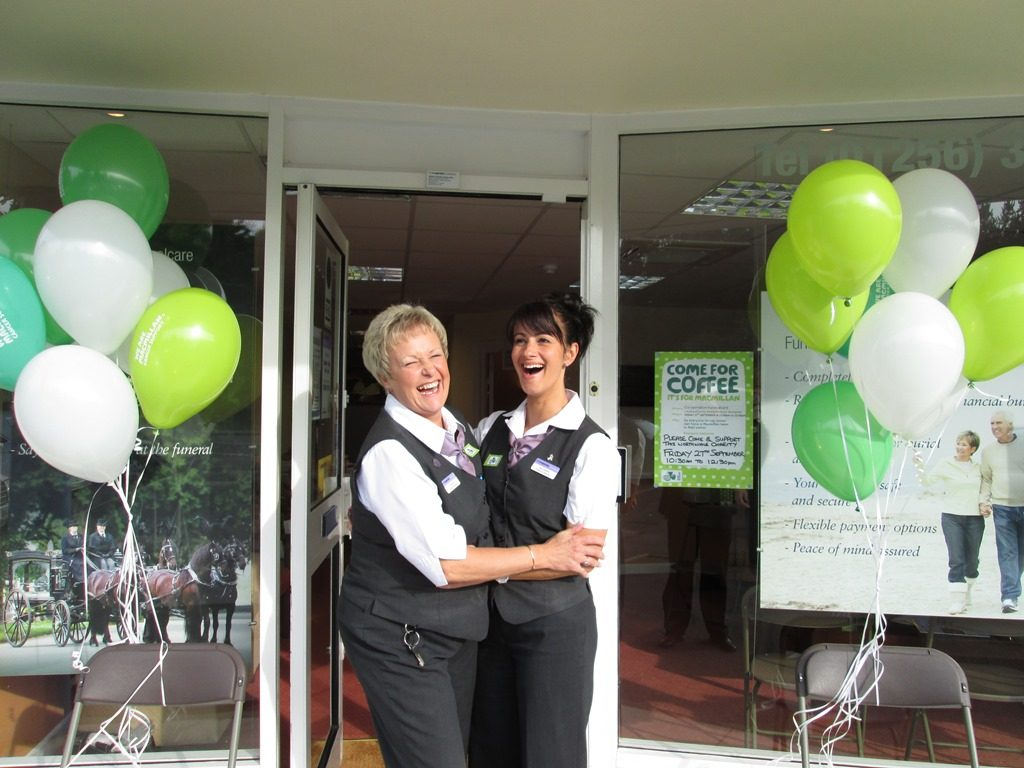 Trisha Gill and Julie Compton at Basingstoke Funeralcare