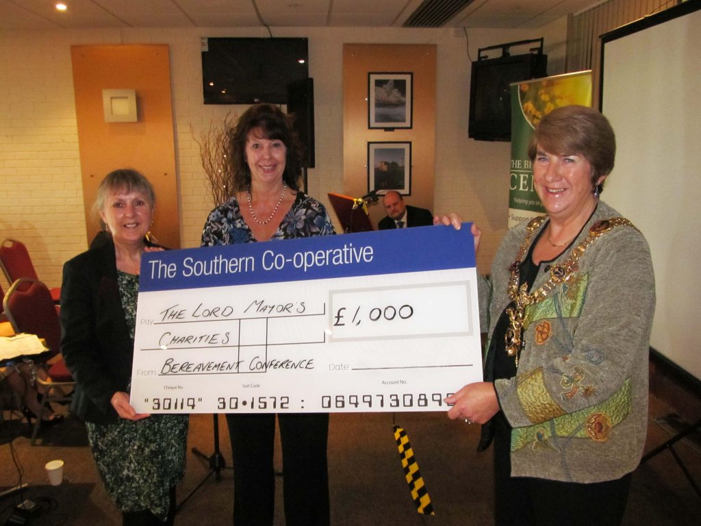 Bereavement conference Lord Mayor charity donation from TSC
