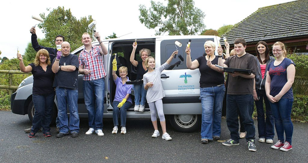 TSC funeralcare and retail colleagues volunteered to paint rooms at Ryde Phoenix Centre