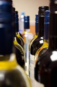 Wine bottles - Photo of food platter - The Southern Co-operative Funeralcare