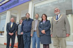 Group photo of opening of Freshwater branch of The Southern Co-operative Funeralcare