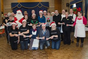 Photo of The Southern Co-operative Volunteering team Christmas lunch for homeless