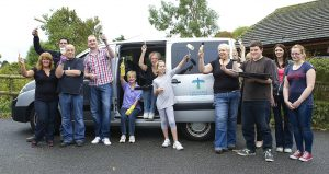 Photo of The Southern Co-operative Funeralcare and retail colleagues volunteered to paint rooms at Ryde Phoenix Centre