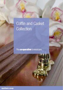 coffin casket brochure