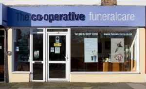 Photo of the front of The Co-operative Funeralcare branch Eastney