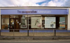 Photo of the front of The Co-operative Funeralcare branch Farnborough