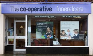 Photo of the front of The Co-operative Funeralcare branch Findon