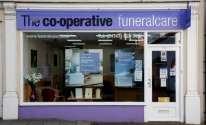 Photo of the front of The Co-operative Funeralcare branch Gillingham