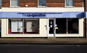 Photo of the front of The Co-operative Funeralcare branch Emsworth