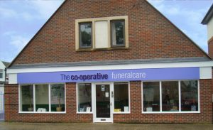 Photo of the front of The Co-operative Funeralcare branch Chichester