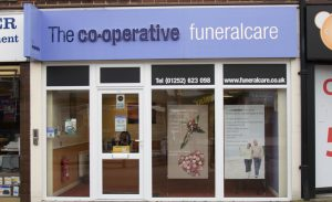 Photo of the front of The Co-operative Funeralcare branch Fleet
