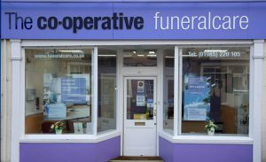Photo of the front of The Co-operative Funeralcare branch Warminster