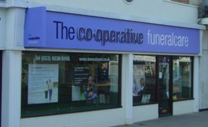 Photo of the front of The Co-operative Funeralcare branch Waterlooville