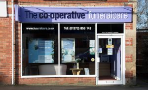 Photo of the front of The Co-operative Funeralcare branch Westbury