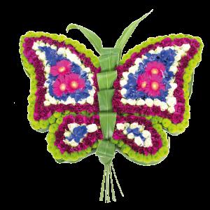 Butterfly flower memorial for funeral