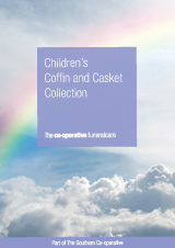 Childrens coffin casket brochure