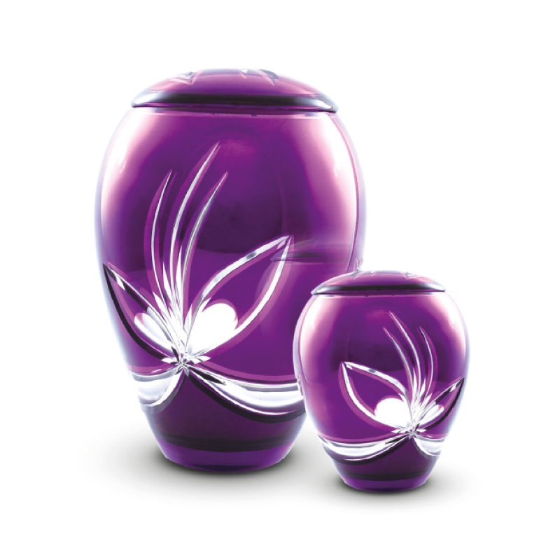 Crystal urns for use as memorials