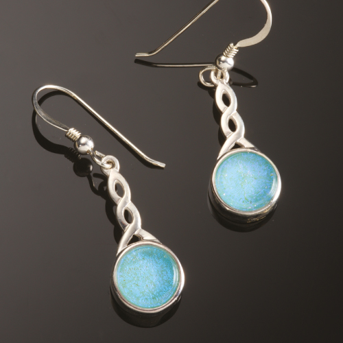 Photo of earrings for dna memorial