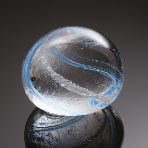Photo of dna glass orb memorial