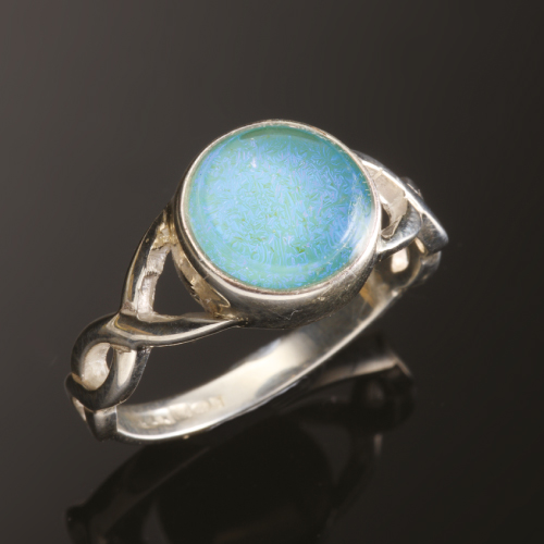 Photo of blue dna ring