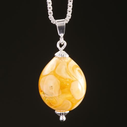 Photo of orange dna teardrop necklace