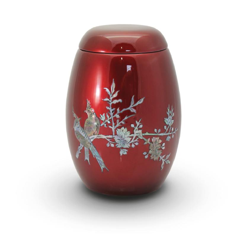 Fibreglass urns for use as memorials