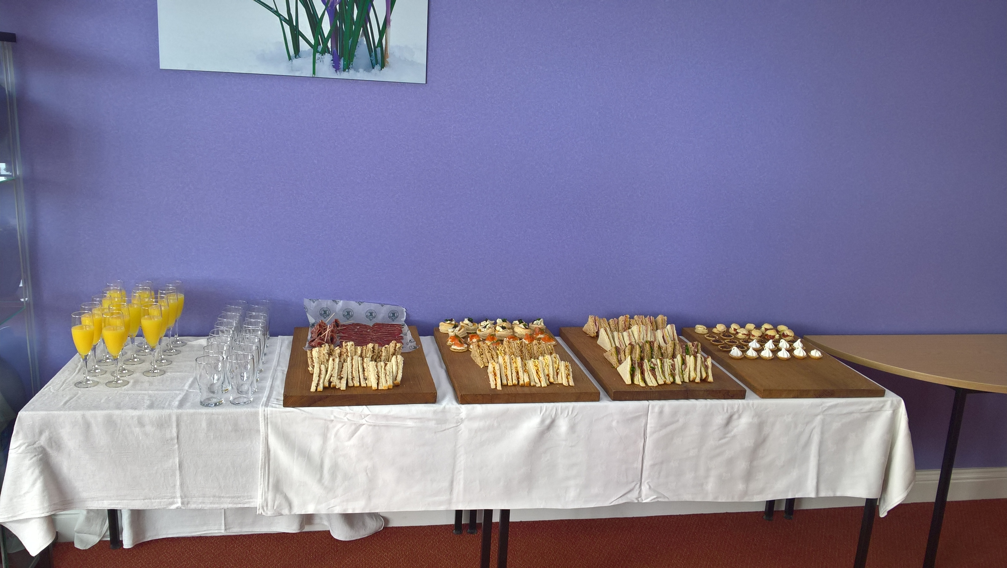 Image of Canapes at Shaftesbury Southern Co-operative Funerlcare celebratory open evening.
